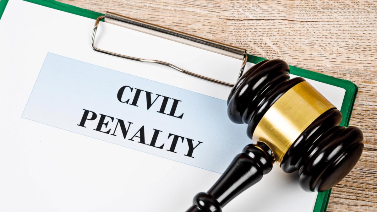 ¿Qué es una sanción civil?